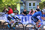Elisa Longo Borghini (ITA) and Amanda Spratt (AUS) chase on the first circuit of Harrogate during the Women Elite Road Race of the UCI World Championships 2019 running 149.4km from Bradford to Harrogate, England. 28th September 2019.<br /> Picture: Seamus Yore | Cyclefile<br /> <br /> All photos usage must carry mandatory copyright credit (© Cyclefile | Seamus Yore)