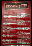 "Lobby Cast Board during the Broadway Opening Night Curtain Call for ""Kiss Me, Kate""  at Studio 54 on March 14, 2019 in New York City."