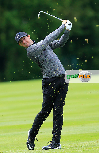 Rory McIlroy (NIR) on the 4th fairway during Wednesday's Pro-Am round of the Dubai Duty Free Irish Open presented  by the Rory Foundation at The K Club, Straffan, Co. Kildare<br /> Picture: Golffile | Thos Caffrey<br /> <br /> All photo usage must carry mandatory copyright credit <br /> (&copy; Golffile | Thos Caffrey)