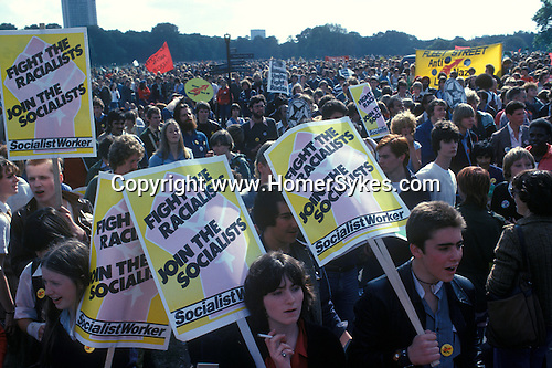 RocK Against Racism rally Hyde Park  London England. 1978