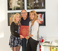 Lisa S. Johnson, Ron Robinson and Karen Meena Lisa S. Johnson 108 Rock Star Guitars Artist Reception & Book Signing at Ron Robinson in Santa Monica on Sept. 3, 2015 (Photo by Inae Bloom/Guest of a Guest)