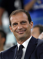Calcio, Serie A: Juventus vs Fiorentina. Torino, Juventus Stadium, 20 agosto 2016.<br /> Juventus coach Massimiliano Allegri waits for the start of the Italian Serie A football match between Juventus and Fiorentina at Turin's Juventus Stadium, 20 August 2016.<br /> UPDATE IMAGES PRESS/Isabella Bonotto