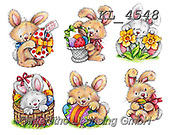 Interlitho-Theresa, EASTER, OSTERN, PASCUA, paintings+++++,rabbits,KL4548,#e#, EVERYDAY ,sticker,stickers