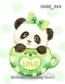 Kayomi, CUTE ANIMALS, LUSTIGE TIERE, ANIMALITOS DIVERTIDOS, paintings+++++,USKH349,#ac#, EVERYDAY ,sticker,stickers,panda