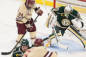 Bill Arnold (BC - 24), Brody Hoffman (UVM - 37) - The Boston College Eagles defeated the visiting University of Vermont Catamounts to sweep their quarterfinal matchup on Saturday, March 16, 2013, at Kelley Rink in Conte Forum in Chestnut Hill, Massachusetts.