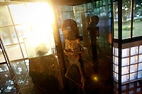 A preserved body of a AIDS victim is displayed in a museum at a Buddhist temple Wat Prabat Nampu in Lopburi on the World AIDS day December 1, 2010. The temple's AIDS hospice is the largest of it's kind in Thailand, providing housing for HIV positive patients and palliative care for those in the final stages of the disease. Thailand has been widely praised for its work in containing the virus.   REUTERS/Damir Sagolj (THAILAND)
