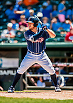 18 July 2018: New Hampshire Fisher Cats outfielder Connor Panas at bat against the Trenton Thunder at Northeast Delta Dental Stadium in Manchester, NH. The Thunder defeated the Fisher Cats 3-2 concluding a previous game started April 29. Mandatory Credit: Ed Wolfstein Photo *** RAW (NEF) Image File Available ***
