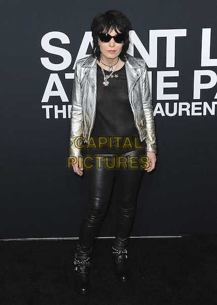 HOLLYWOOD, CA - FEBRUARY 10:  Joan Jett at Saint Laurent at The Palladium at the Hollywood Palladium on February 10, 2016 in Hollywood, California. <br /> CAP/MPI/PGSK<br /> &copy;PGSK/MPI/Capital Pictures