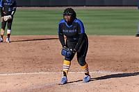 DURHAM, NC - FEBRUARY 29: Brianna Butler #27 of Duke University pitches the ball during a game between Notre Dame and Duke at Duke Softball Stadium on February 29, 2020 in Durham, North Carolina.