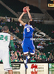 New Orleans Privateers guard Antonio Holmes (5) in action during the game between the New Orleans Privateers and the University of North Texas Mean Green at the North Texas Coliseum,the Super Pit, in Denton, Texas. UNT defeated UNO 78 to 47.....