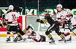 Stockholm 2014-10-14 Ishockey Hockeyallsvenskan AIK - Malm&ouml; Redhawks :  <br /> AIK:s Marcus Jonsson g&ouml;r det avg&ouml;rande 3-2 m&aring;let i f&ouml;rl&auml;ningen efter full tid <br /> (Foto: Kenta J&ouml;nsson) Nyckelord:  AIK Gnaget Hockeyallsvenskan Allsvenskan Hovet Johanneshov Isstadion Malm&ouml; Redhawks jubel gl&auml;dje lycka glad happy