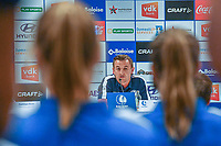 20200824 , GENT , BELGIUM : Gent's head coach Dave Mattheus pictured during a players presentation of K.A.A. Gent ladies before the 2020 - 2021 season of Belgian Women's SuperLeague , Monday 24 th of August 2020 in Gent , Belgium . PHOTO SPORTPIX.BE | STIJN AUDOOREN