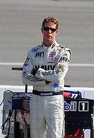 May 2, 2008; Richmond, VA, USA; NASCAR Nationwide Series driver Brad Keselowski during the Lipton Tea 250 at the Richmond International Raceway. Mandatory Credit: Mark J. Rebilas-