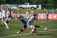 Kansas City, MO - Sunday May 07, 2017: Shea Groom, Steph Catley during a regular season National Women's Soccer League (NWSL) match between FC Kansas City and the Orlando Pride at Children's Mercy Victory Field.