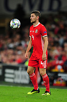 Ben Davies of Wales during the UEFA Nations League B match between Wales and Ireland at Cardiff City Stadium in Cardiff, Wales, UK.September 6, 2018