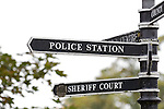 Linlithgow police station - front counter under threat of closure.<br /> <br /> Image by: Malcolm McCurrach