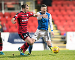 St Johnstone v Dundee&hellip;30.12.17&hellip;  McDiarmid Park&hellip;  SPFL<br />Paul McGowan and Michael O&rsquo;Halloran<br />Picture by Graeme Hart. <br />Copyright Perthshire Picture Agency<br />Tel: 01738 623350  Mobile: 07990 594431