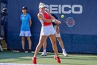 Washington, DC - August 3, 2019:  Catherine McNally (USA) returns a serve during the  Women Doubles finals at William H.G. FitzGerald Tennis Center in Washington, DC  August 3, 2019.  (Photo by Elliott Brown/Media Images International)