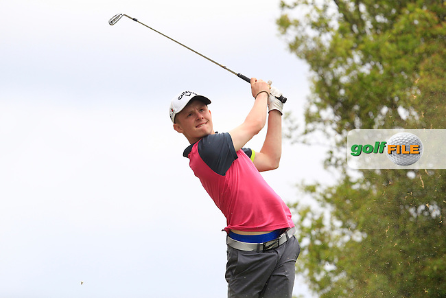 Giles Gill (England) on the 7th tee during Round 2 of the Irish Boys Amateur Open Championship at Tuam Golf Club on Wednesday 24th June 2015.<br /> Picture:  Thos Caffrey / www.golffile.ie