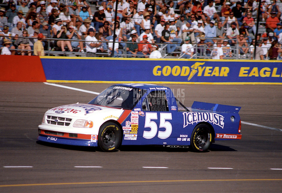 Nov. 1, 1997; Avondale, AZ, USA; NASCAR Craftsman Truck Series driver Dave Rezendes during the GM Goodwrench/Delco 300 at Phoenix International Raceway. Mandatory Credit: Mark J. Rebilas-