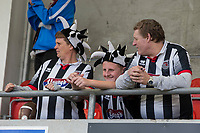Grimsby fans ahead of the Sky Bet League 2 match between Cheltenham Town and Grimsby Town at the The LCI Rail Stadium,  Cheltenham, England on 17 April 2017. Photo by PRiME Media Images / Mark Hawkins.