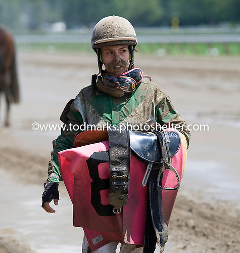Tough day at the office for jockey Maylan Studart.