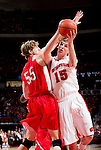 Wisconsin Badgers forward Sam Dekker (15) shoots the ball as Cornell Big Red Eitan Chemerinski (55) defends during an NCAA  college basketball game Sunday, November 18, 2012 in Madison, Wis. The Badgers won 73-40. (Photo by David Stluka)