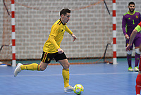 20200129 – Herentals , BELGIUM : Belgian Steven Dillien pictured during a futsal indoor soccer game between Armenia and  the Belgian Futsal Devils of Belgium on the first matchday in group B of the UEFA Futsal Euro 2022 Qualifying or preliminary round , Wednesday 29 th January 2020 at the Sport Vlaanderen sports hall in Herentals , Belgium . PHOTO SPORTPIX.BE | DAVID CATRY