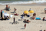 BRAZIL, Rio de Janiero, beach goers enjoy a sunny day at Ipanema Beach