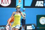 Ana Ivanovic (SRB) wins  at Australian Open in Melbourne Australia on 17th January 2013