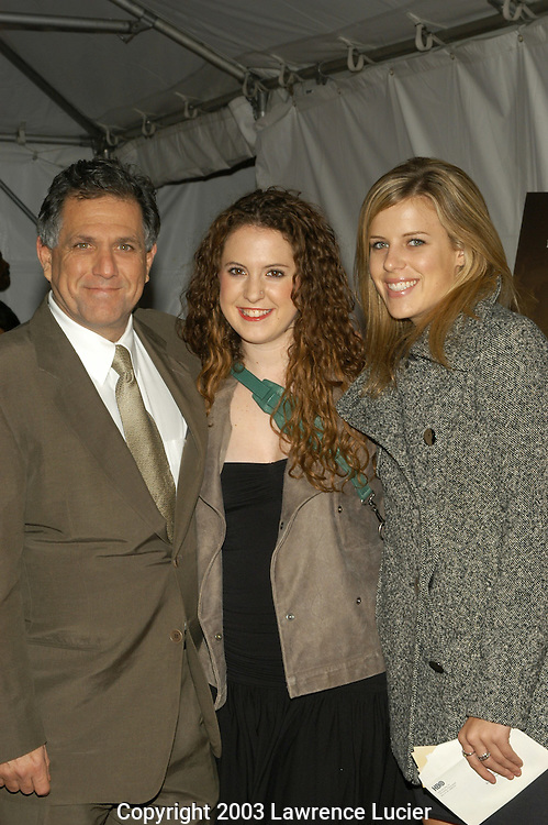 Les Moonves and daughters