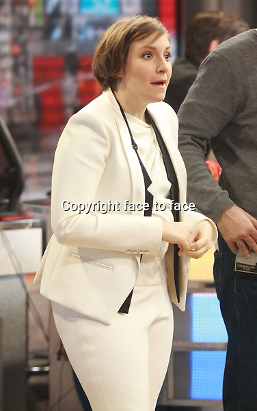 NEW YORK, NY - JANUARY 6: Lena Dunham on the set of ABC's Good Morning America in New York City on January 6, 2013. Credit: RW/MediaPunch Inc.<br />