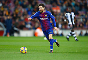 7th January 2018, Camp Nou, Barcelona, Spain; La Liga football, Barcelona versus Levante; Messi FC Barcelona passing the ball