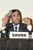 """Dr. Panayiotis Michael Zavos,  Director and Chief Andrologist,  The Andrology Institute, appears on a panel on the """"Scientific and Medical Aspects of Human Cloning"""" in Washington, DC on August 7, 2001.<br /> Credit: Ron Sachs / CNP"""
