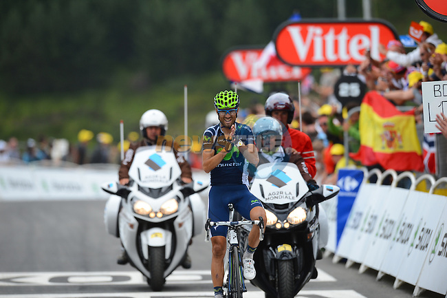 Alejandro Valverde (ESP) Movistar Team wins Stage 17 running from Bagnères-de-Luchon to Peyragudes during the 99th edition of the Tour de  France, 19th July 2012 (Photo by Tim de Waele/ASO/NEWSFILE)