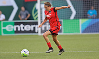 Portland, OR - Saturday July 30, 2016: Emily Menges during a regular season National Women's Soccer League (NWSL) match between the Portland Thorns FC and Seattle Reign FC at Providence Park.