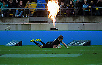 Jordie Barrett scores his first try during the Steinlager Series international rugby match between the New Zealand All Blacks and France at Westpac Stadium in Wellington, New Zealand on Saturday, 16 June 2018. Photo: Dave Lintott / lintottphoto.co.nz
