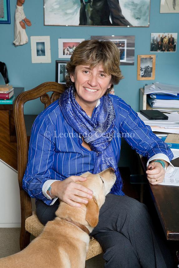 Turin, Italy, 2006.Paola Mastrocola, Italian writer and Professor of Italian at the secondary school in Turin.