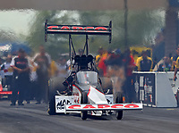 Jul 9, 2017; Joliet, IL, USA; NHRA top fuel driver Steve Torrence during the Route 66 Nationals at Route 66 Raceway. Mandatory Credit: Mark J. Rebilas-USA TODAY Sports