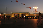 The child fly a kite at Tiananmen square in Beijing China August 2007