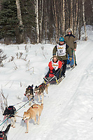 Vern Halter w/Iditarider on Trail 2005 Iditarod Ceremonial Start near Campbell Airstrip Alaska SC