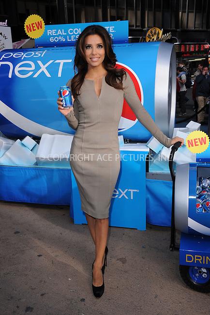 WWW.ACEPIXS.COM . . . . . .April 6, 2012...New York City....Eva Longoria serves new Pepsi Next in Times Square on April 6, 2012  in New York City ....Please byline: KRISTIN CALLAHAN - ACEPIXS.COM.. . . . . . ..Ace Pictures, Inc: ..tel: (212) 243 8787 or (646) 769 0430..e-mail: info@acepixs.com..web: http://www.acepixs.com .