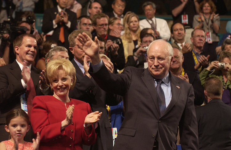 Lynn and Dick Cheney at the  2004 Republican National Convention in New York.