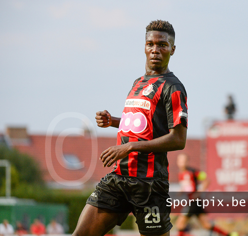 20150807 - ROESELARE, BELGIUM: Seraing's Erwin Senakuku Mukelepu pictured during the Proximus League match between KSV Roeselare and RFC Seraing , in Roeselare , Friday 7 August 2015, on the 1st day of the Belgian second division soccer championship. PHOTO DAVID CATRY