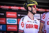 Adam Yates (GBR/Mitchelton Scott) as part of Team Great Britain.<br /> <br /> 104th Kampioenschap van Vlaanderen 2019<br /> One Day Race: Koolskamp > Koolskamp 186km (UCI 1.1)<br /> ©kramon