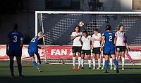 Seattle, WA - Saturday July 22, 2017: Megan Rapinoe, Raquel Rodriguez, Taylor Lytle, Daphne Corboz, Sarah Killion during a regular season National Women's Soccer League (NWSL) match between the Seattle Reign FC and Sky Blue FC at Memorial Stadium.