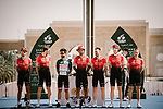 Team Arkea-Samsic before the start of Stage 5 of the Saudi Tour 2020 running 144km from Princess Nourah University to Al Masmak, Saudi Arabia. 8th February 2020. <br /> Picture: ASO/Pauline Ballet   Cyclefile<br /> All photos usage must carry mandatory copyright credit (© Cyclefile   ASO/Pauline Ballet)