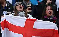 England Fans sing the National Anthem<br /> <br /> Photographer Rachel Holborn/CameraSport<br /> <br /> International Rugby Union Friendly - Old Mutual Wealth Series Autumn Internationals 2017 - England v Argentina - Saturday 11th November 2017 - Twickenham Stadium - London<br /> <br /> World Copyright &copy; 2017 CameraSport. All rights reserved. 43 Linden Ave. Countesthorpe. Leicester. England. LE8 5PG - Tel: +44 (0) 116 277 4147 - admin@camerasport.com - www.camerasport.com