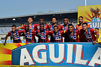 SANTA MARTA - COLOMBIA, 26-01-2019: Jugadores del Unión posan para una foto previo al partido por la fecha 1 entre Unión Magdalena y Jaguares FC como parte de la Liga Águila I 2019 jugado en el estadio Sierra Nevada de la ciudad de Santa Marta. / Players of Union pose to a photo prior Final second leg match between  Union Magdalena and Jaguares FC as a part Aguila League I 2019 played at Sierra Nevada stadium in Santa Marta city. Photo: VizzorImage / Gustavo Pacheco / Cont