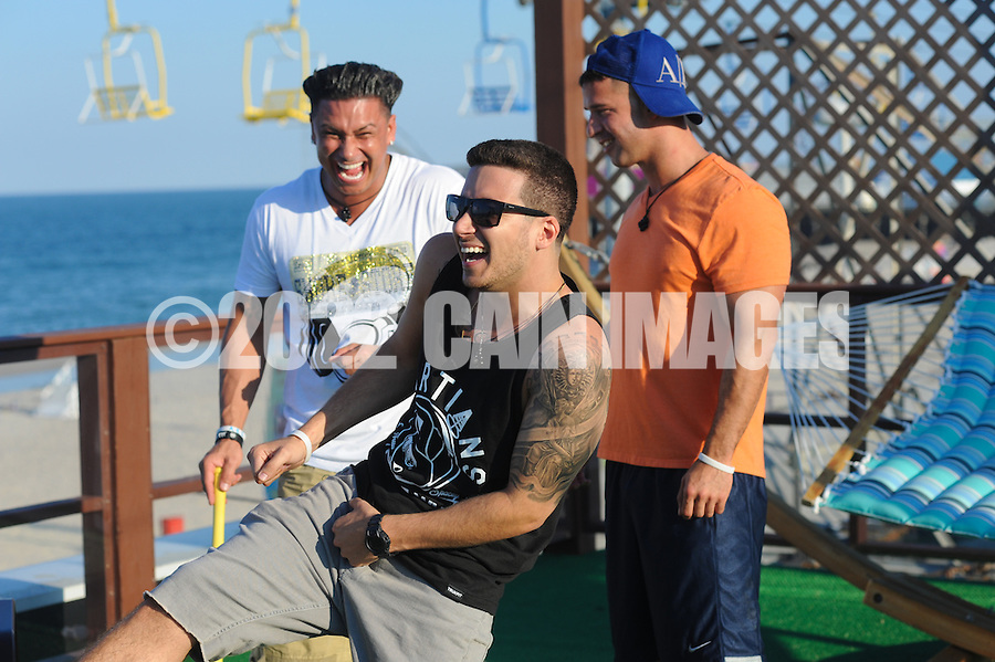 SEASIDE HEIGHTS, NJ - JULY 2: The cast of MTV's Jersey Shore (Season 6) hosts a party/bonfire on the beach July 2, 2012 in Seaside Heights, New Jersey. (Photo by William Thomas Cain/Picture Group for MTV)
